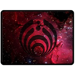 Bassnectar Galaxy Nebula Double Sided Fleece Blanket (large)  by Onesevenart