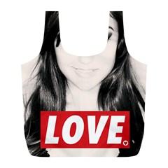 Sasha Grey Love Full Print Recycle Bags (l)  by Onesevenart