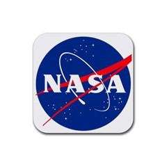 Nasa Logo Rubber Square Coaster (4 Pack)  by Onesevenart