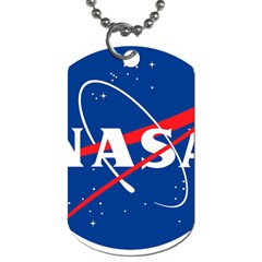 Nasa Logo Dog Tag (two Sides) by Onesevenart