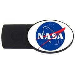 Nasa Logo Usb Flash Drive Oval (2 Gb) by Onesevenart