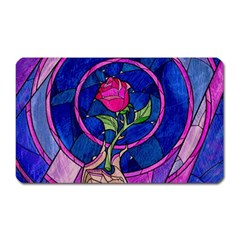 Enchanted Rose Stained Glass Magnet (rectangular) by Onesevenart