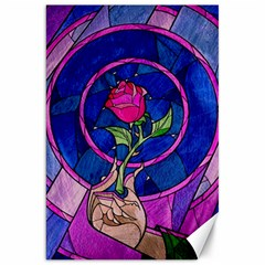 Enchanted Rose Stained Glass Canvas 20  X 30   by Onesevenart