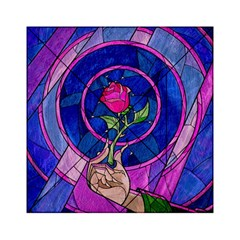 Enchanted Rose Stained Glass Acrylic Tangram Puzzle (6  X 6 ) by Onesevenart