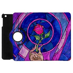 Enchanted Rose Stained Glass Apple Ipad Mini Flip 360 Case by Onesevenart