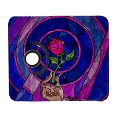 Enchanted Rose Stained Glass Galaxy S3 (flip/folio) by Onesevenart