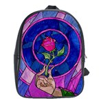 Enchanted Rose Stained Glass School Bag (XL)