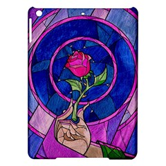Enchanted Rose Stained Glass Ipad Air Hardshell Cases by Onesevenart