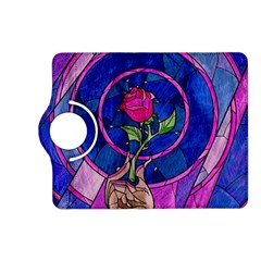 Enchanted Rose Stained Glass Kindle Fire Hd (2013) Flip 360 Case by Onesevenart
