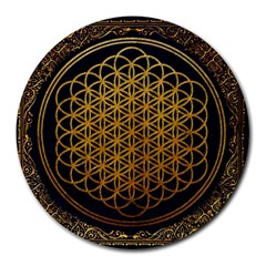 Bring Me The Horizon Cover Album Gold Round Mousepads by Onesevenart