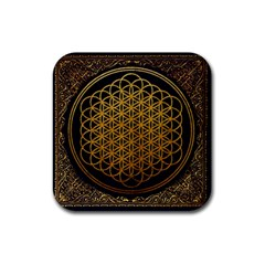 Bring Me The Horizon Cover Album Gold Rubber Square Coaster (4 Pack)  by Onesevenart