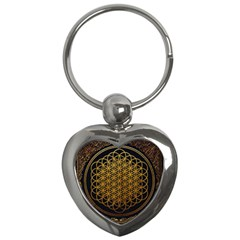 Bring Me The Horizon Cover Album Gold Key Chains (heart)  by Onesevenart