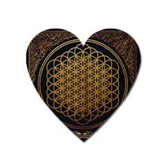 Bring Me The Horizon Cover Album Gold Heart Magnet by Onesevenart