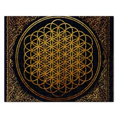 Bring Me The Horizon Cover Album Gold Rectangular Jigsaw Puzzl by Onesevenart