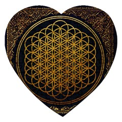 Bring Me The Horizon Cover Album Gold Jigsaw Puzzle (heart) by Onesevenart