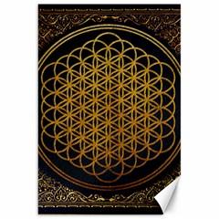 Bring Me The Horizon Cover Album Gold Canvas 20  X 30   by Onesevenart