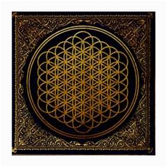Bring Me The Horizon Cover Album Gold Medium Glasses Cloth by Onesevenart