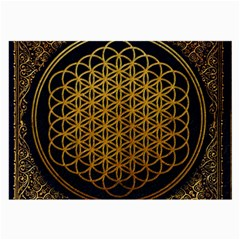 Bring Me The Horizon Cover Album Gold Large Glasses Cloth by Onesevenart
