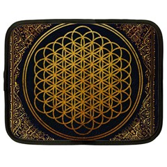 Bring Me The Horizon Cover Album Gold Netbook Case (large) by Onesevenart