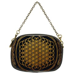 Bring Me The Horizon Cover Album Gold Chain Purses (one Side)  by Onesevenart