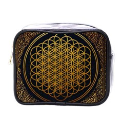 Bring Me The Horizon Cover Album Gold Mini Toiletries Bags by Onesevenart