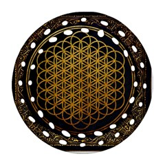 Bring Me The Horizon Cover Album Gold Round Filigree Ornament (two Sides) by Onesevenart