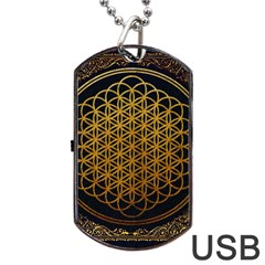 Bring Me The Horizon Cover Album Gold Dog Tag Usb Flash (one Side) by Onesevenart