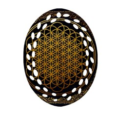 Bring Me The Horizon Cover Album Gold Ornament (oval Filigree) by Onesevenart