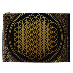 Bring Me The Horizon Cover Album Gold Cosmetic Bag (xxl)  by Onesevenart