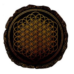 Bring Me The Horizon Cover Album Gold Large 18  Premium Round Cushions by Onesevenart
