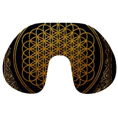 Bring Me The Horizon Cover Album Gold Travel Neck Pillows by Onesevenart