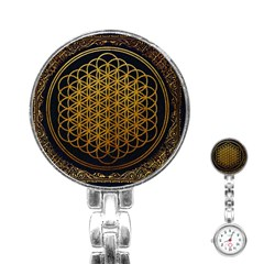Bring Me The Horizon Cover Album Gold Stainless Steel Nurses Watch by Onesevenart