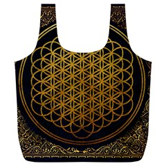 Bring Me The Horizon Cover Album Gold Full Print Recycle Bags (l)  by Onesevenart