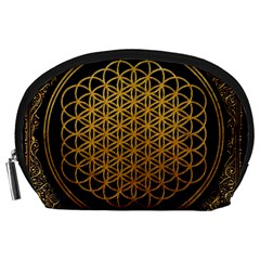 Bring Me The Horizon Cover Album Gold Accessory Pouches (large)  by Onesevenart