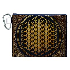 Bring Me The Horizon Cover Album Gold Canvas Cosmetic Bag (xxl) by Onesevenart