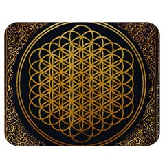 Bring Me The Horizon Cover Album Gold Double Sided Flano Blanket (medium)  by Onesevenart