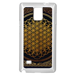 Bring Me The Horizon Cover Album Gold Samsung Galaxy Note 4 Case (white) by Onesevenart