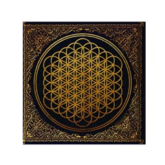 Bring Me The Horizon Cover Album Gold Small Satin Scarf (square) by Onesevenart