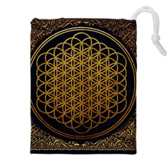 Bring Me The Horizon Cover Album Gold Drawstring Pouches (xxl) by Onesevenart