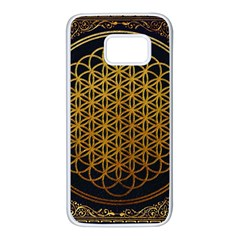 Bring Me The Horizon Cover Album Gold Samsung Galaxy S7 White Seamless Case by Onesevenart