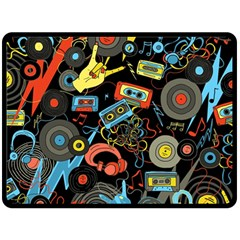 Music Pattern Double Sided Fleece Blanket (large)  by Onesevenart
