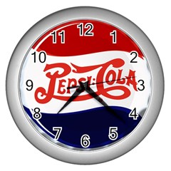 Pepsi Cola Wall Clocks (silver)  by Onesevenart