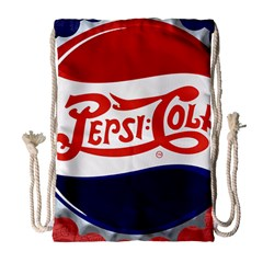 Pepsi Cola Drawstring Bag (large) by Onesevenart