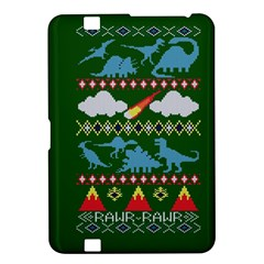 My Grandma Likes Dinosaurs Ugly Holiday Christmas Green Background Kindle Fire Hd 8 9  by Onesevenart