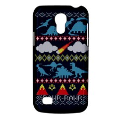 My Grandma Likes Dinosaurs Ugly Holiday Christmas Blue Background Galaxy S4 Mini by Onesevenart