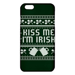 Kiss Me I m Irish Ugly Christmas Green Background Iphone 6 Plus/6s Plus Tpu Case by Onesevenart