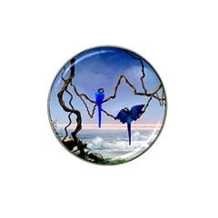 Wonderful Blue  Parrot Looking To The Ocean Hat Clip Ball Marker (10 Pack) by FantasyWorld7
