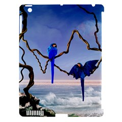 Wonderful Blue  Parrot Looking To The Ocean Apple Ipad 3/4 Hardshell Case (compatible With Smart Cover) by FantasyWorld7