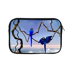 Wonderful Blue  Parrot Looking To The Ocean Apple Ipad Mini Zipper Cases by FantasyWorld7