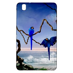 Wonderful Blue  Parrot Looking To The Ocean Samsung Galaxy Tab Pro 8 4 Hardshell Case by FantasyWorld7